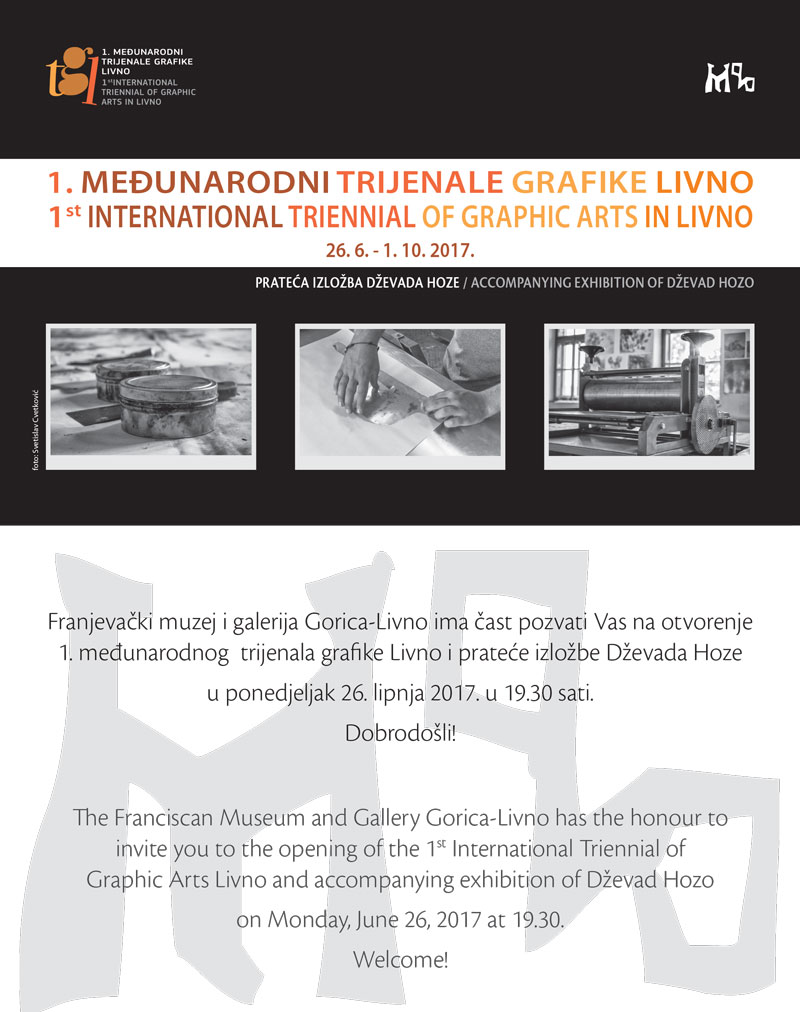 Pozivnica 1. Međunarodni trijenale grafike Livno
