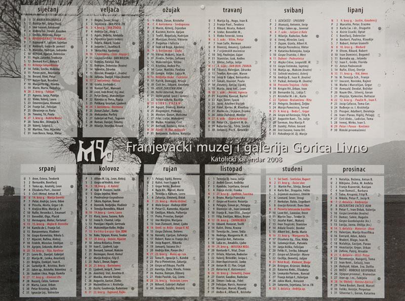 FMGG Kalendar 2008.