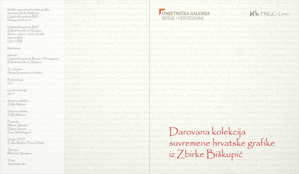 Darovana kolekcija suvremene hrvatske grarike iz Zbirke Biškupić